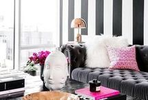 The Perfect Strip(e)tease / Need to add a little verve and energy to your home? Have you considered stripes? This bold décor statement can hide flaws and completely reinvent a space. Here's how: