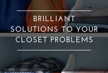 Creative Closet Hacks / A closet like this may be a dream for most of us, but that's no reason for not making the most of what you have. So let's get rolling.