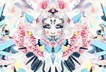 Illustration and mixed media / by Linda Skaret