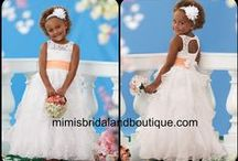 Flower Girls / How cute are these perfect dresses for the littles in your wedding! mimisbridalandboutique.com