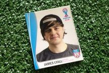 World Cup Fun: Staff Stickers / For the WC 2014, we printed out staff as football stickers!