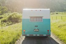 Camping trailer / IKEA modern meets bohemian vintage chic meets country kitch  / by Nina Torres