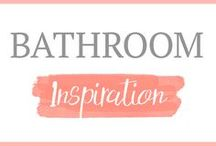 Bathroom Inspiration / Bathroom Makeover | Tiny Bathroom | Small Bathroom | Bathroom Re-Do | Refreshing Bathroom | Bathroom Decor | How to Decorate a Bathroom | Bathroom Decor on a Budget | Bathroom Before and After | Decorating a Guest Bathroom | Baskets for the Bathroom | Clever Decorating Hacks for the Bathroom |