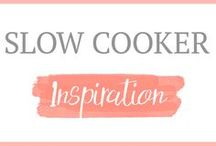 Slow Cooker Inspiration / Slow Cooker Recipes | Crockpot Recipes | Easy Meal Ideas | Fall Soups | Crockpot Chicken | Crockpot Meals | Meals to Make Ahead of Time | Slow Cooker Meals