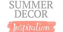 Summer Decor Inspiration / Summer Decor Inspiration, Summer Decor Ideas, Farmhouse Summer Decor, Americana Decor, Summer Vibes,