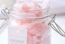 DIY cosmetics + beauty products / A lot of ideas how to create bath salt, bubble baths, lotions ...
