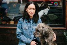 Street Style and Dogs / Dog Walk Style, Dog Walk Fashion