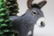 """Felt Feels Fine / It's amazing how sweet and tiny things can come from the hands of an artist. There are some """"regular"""" felt things here but also """"felted wool"""", amazing! / by Pat A. Thompson"""