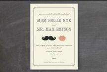 Movember-Themed Wedding Ideas / Moustaches everywhere! Cute hipster-esque wedding ideas.