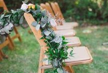 Ceremony Decor / Venue Decorating Ideas and Inspiration. Walking down the aisle needs the perfect mood set.