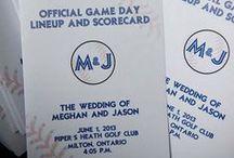Baseball-Themed Wedding Ideas