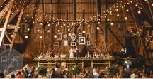 """Rustic Wedding Ideas / There's something so charming about a rustic wedding in an old wooden barn. Say """"I Do"""" in a historic barn or outside near the corn fields. Be a part of the biggest wedding trend of the century while creating a cozy, comfortable atmosphere for your guests."""