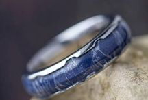 Mokume Gane Rings / Mokume gane wedding bands are truly a work of art. This ancient process was first introduced in 17th-century Japan and was utilized for crafting swords. Now, we use it in our unique wedding bands to create a look that is simply breathtaking.