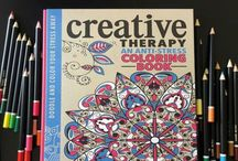 Anti-Stress Grown Up Coloring Books / For those that love the Color, Creative, & Art Therapy Anti-Stress Grown up coloring books to share their in progress or finished work.