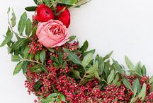 DIY wreaths / DIY ideas for wreaths with flowers or other materials
