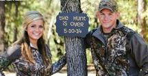 Hunting Themed Wedding Ideas / The hunt is over! You found what you've been hunting for your whole life: true love! Celebrate your love for each other and the outdoors with a rustic, hunting themed wedding.