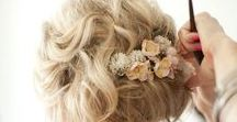 Wedding Hair / How will you do your hair on your wedding day? Up? Down? Half-up? Side Braid? Scroll through the endless options of wedding hair ideas and find what will go best with your dress, jewelry and face shape.