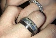 Our Customers / Take a look at our collection of wedding ring photos shared by our wonderful customers! It features unique wedding bands and engagement rings made from wood, antler, meteorite, and dino bone.