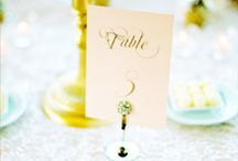 Wedding Style:Details / Browse here for wedding inspiration including table numbers, wedding signs, escort cards, guest books, send-offs, favors, photography, invitations, candy buffets, dessert tables & lots of good wedding ideas!