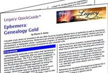 Legacy QuickGuides: E-Guides for Genealogy Research / Legacy QuickGuides are written by genealogists and family historians who are experts in subject areas covering specific ethnic groups, countries, US states and topics. The PDF version of these guides stored on a tablet computer are handy for research. I am proud to be the editor of this series and work with so many talented authors! / by GeneaBloggers