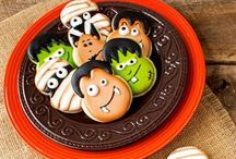 Halloween Cut Out Cookies, Decorated Sugar Cookies / Halloween Cut Out Cookies and Fun Spooky Decorated Sugar Cookies / by the BearFoot Baker (Lisa)