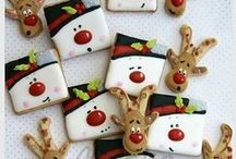 Snowman Cookies / Decorated Snowman Cookies