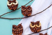 Owl Cookies & Cupcakes / Decorated Sugar Cookies and Cupcakes that look like cute little owls.