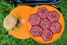 2016 Silicone Burger Press / Silicone Burger Press & Freezer Container 7 in 1. Best Hamburger Patty Maker in BBQ Grill Accessories. 100% Lifetime Warranty. Orange Color. BONUS - Recipes Ebook + Gift Box! By Burger Fanatic.  http://www.amztk.com/burgerpress1
