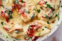 """recipes to test: main dishes / """"no matter what happens in the kitchen, never apologize."""" -julia child"""