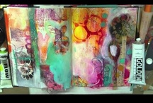 treiCdesigns DIY tutorials / video and step-by-step tutorials by mixed media artist Traci Bautista