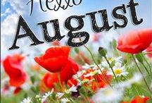 """August long lazy summer days / My projects and inspirations for this delicious August month. """"Summer is the annual permission slip to be lazy. To do nothing and have it count for something. To lie in the grass and count the stars. To sit on a branch and study the clouds ~ Regina Brett"""""""