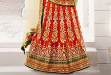 Lehengas / Rich exclusive designer lehenga cholis range is extremely popular due to its superiority, intricate design and latest pattern. Fashionable Lehenga Choli is all about trendy work, fantastic cut as well as floor-length version, a beautiful lehenga choli portrays attraction and regality. Designer lehenga is generally adjusted to the waist and consist of different types of excellent craftsmanship that has catapulted it to be one of the most prominent ethnic wear in market.