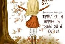 September - Autumn Visions / Surrounded by eclectic visions of marvelous motivations, tutorials, happiness, health and lovely things inspiring me this gorgeous autumn-bow coloured month of September.   This month of the harvest full moon and the autumnal equinox!