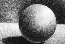 VALUE SCALE shading / art ed shading and grey scale  / by Art Ed Central
