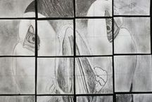 Animals close up  GRID / zoom in  Grid Drawings / by Art Ed Central