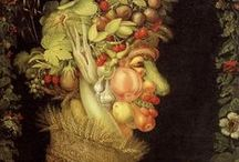 FOOD  inspires us  art ed / Food and artists who paint it...Arcimbaldo, Wayne Theibaud.... / by Art Ed Central