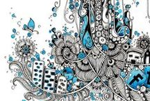 Tangle your head off! / When in doubt Zentangle it out!!! Neopoprealism...illustration, tattoo ideas...by subject  :) / by Art Ed Central