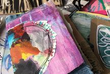 handmade art journals by Traci Bautista / a collection of my handmade art journals. I've created hundreds of journals over the past 20 years, each is one-of-a-kind.
