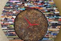 HanDeco   Ρολόγια τοίχου / Χειροποίητα καί μοναδικά ...Ρολόγια τοίχου από εφημερίδες και περιοδικά...!!!