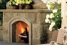 Outdoor fireplace/firepit