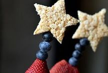 4th of July Party Ideas / America's independence day is all about BBQ and fun ideas for backyard or beach. Break out the grill and get the glue gun to make some super cute red, white and blue decorations! / by Cherryvale Farms