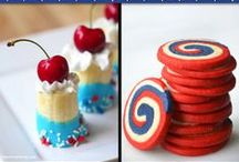 4th of July Eats / American independence day, 4th of July, is a wonderful summer holiday perfect for BBQ fare and red, white and blue treats. Let's set off the sparklers and celebrate America!  / by Cherryvale Farms