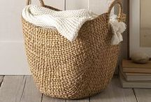 Baskets / basket ideas for the home, great for organizing, planting and decorating