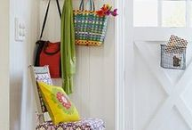 Hallway entrance porch / Cool ways to liven up what can traditionally be a pretty boring space.
