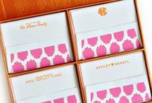 Silk Stationery / Personalized Silk Stationery Boxes with custom monogram and fonts making it the perfect gift!
