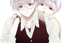 Tokyo Ghoul❣ / Animation which I like. And a Boy, Kaneki Ken (Sasaki), I like he, I like his friends, and Hide who is Best Friend I want to have