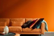 Colour / Use as inspiration for the colour theme of a room. Concentrate on the use of colour rather than the furniture styles.