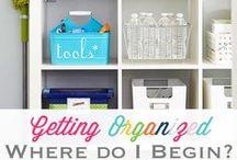 organizing / by MrsMajorHoff