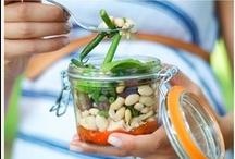 Mason Jar Salad Recipes  / Tasty mason jar salads. Perfect for taking to work.