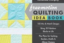 The Free-Motion Quilting Idea book / A board showing Amanda Murphy's Free-Motion Quilting Idea Book and Sampler for C&T Publishing. #MFQIdeaBook